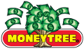 A tree with money as leaves,with the word moneytree across the tree. Logo of MoneytreeInc.